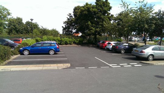 Free parking to local NHS staff and volunteers