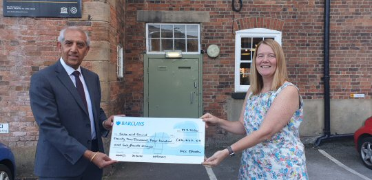 PCC toasts funding boost with Derbyshire charity
