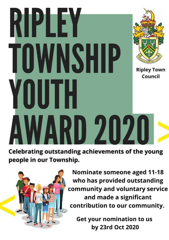 Ripley Town Council Youth Award.