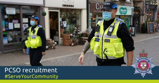 Derbyshire police open PCSO recruitment