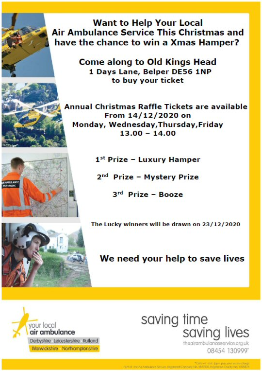 Buy A Raffle Ticket And Help Your Local Air Ambulance Service