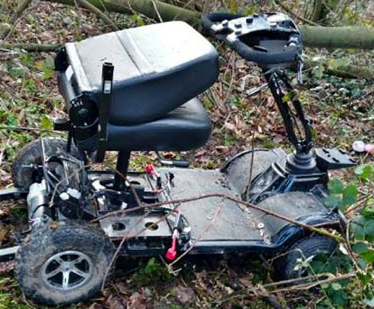 Appeal for information after mobility scooter stolen and damaged