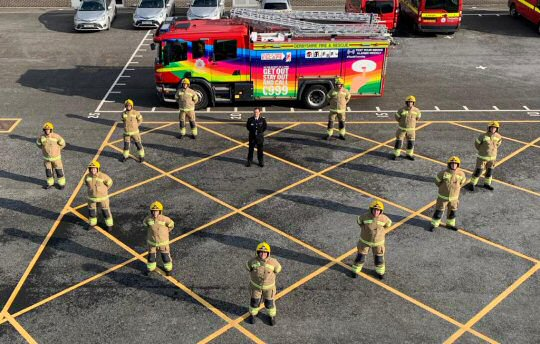 11 New Firefighters pass-out in Derbyshire