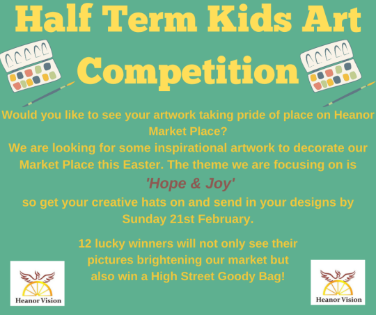 Heanor Vision Hope & Joy art competition.