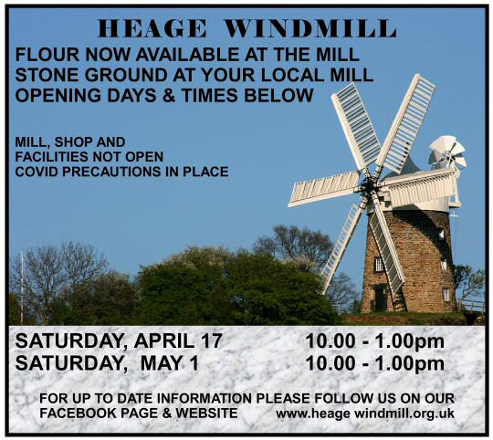 Heage Windmill are selling flour again