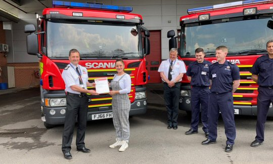 Passer by awarded Chief Fire Officer Commendation